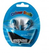 Casti in ureche 3.5mm Albastru Budz Maxell EARPHONE-CBUDZBK-MXL